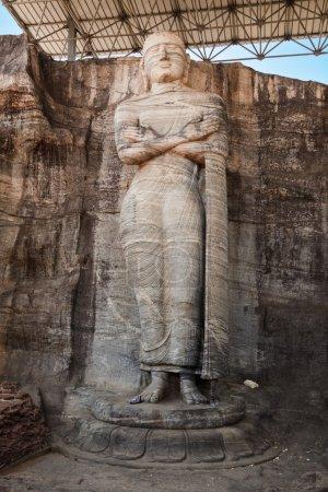 Ancient standing Buddha image
