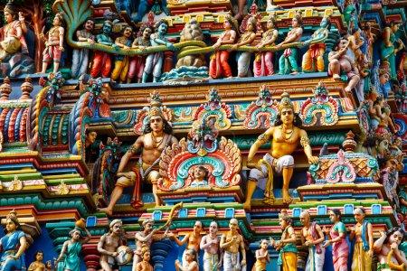 Gopuram (tower) of Hindu temple Kapaleeshwarar., C...