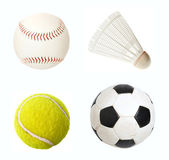 Sport items isolated