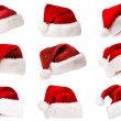 Santa's red hat isolated on white...