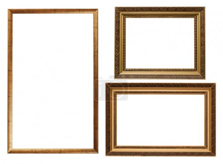 Three picture frames isolated