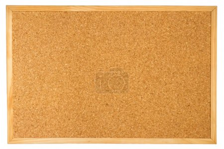 Empty cork board isolated on white backg
