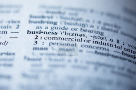 Definition of business in dictionary