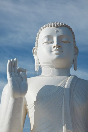 Sitting Budha image close up