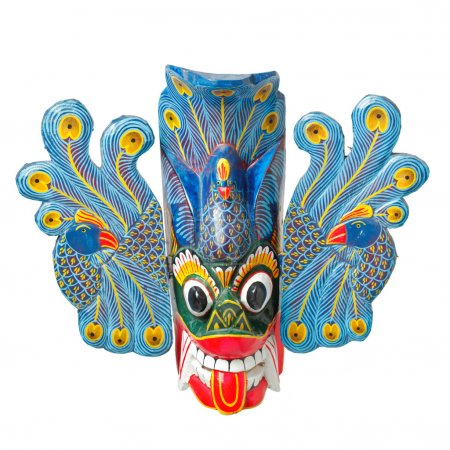 Traditional Sri Lankan mask isolated