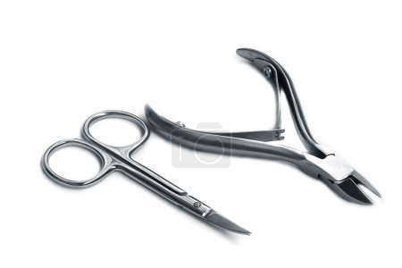 Nippers and scissors for manicure