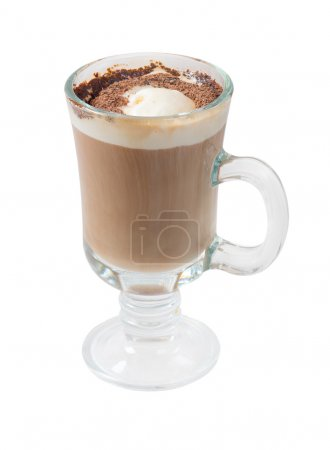 Chocolate Coffee cocktail cup .Isolated