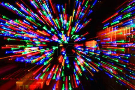 Explosion of colored lights