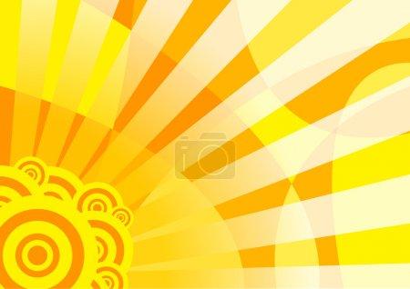 bannière d'été solaire orange