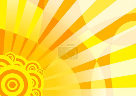 Orange solar summer banner