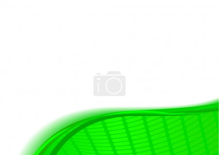 Green abstract card template