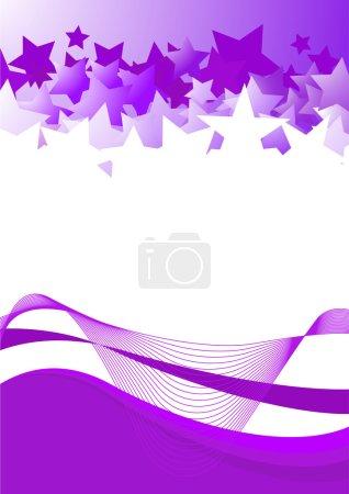 Violet card with violet stars