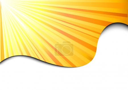 Sunburst banner - sun concept