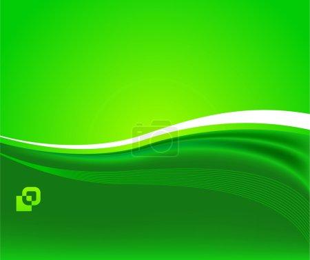 Illustration for Green sunshine - ecological background; clip-art - Royalty Free Image