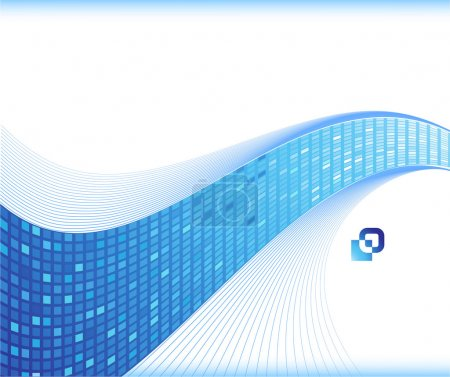 Blue wave - business card template