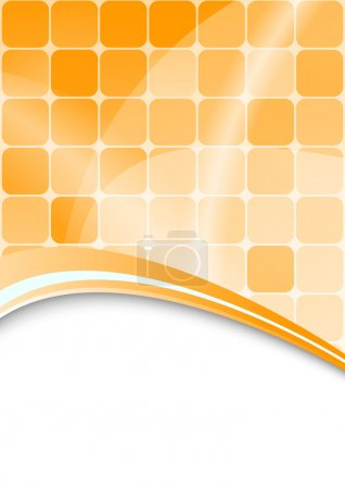 Orange abstract background with cells
