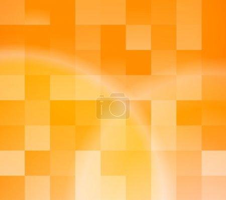 Foto de Fondo de azulejos naranja abstractos. ilustración vectorial - Imagen libre de derechos