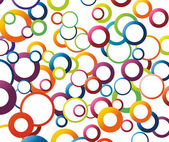 Abstract background with rainbow colored circles Vector illustration