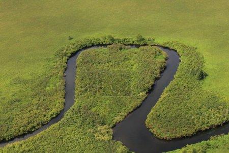 Photo pour Coude de la rivière - image libre de droit