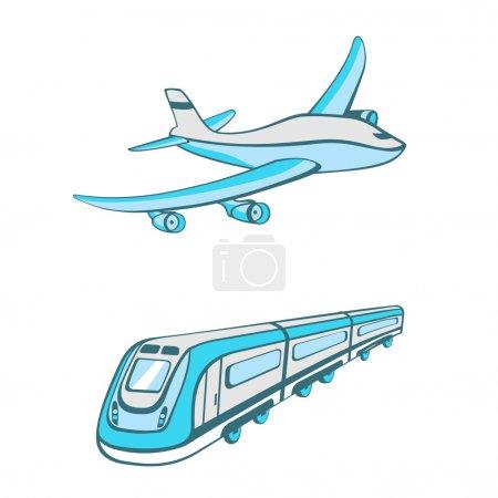 Photo pour Modes de transport. icônes de transport mignon - image libre de droit