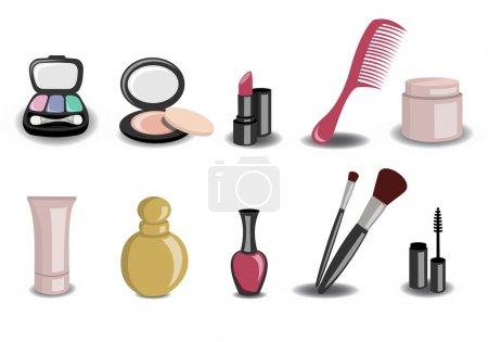 Photo for Illustration of Different beauty and fashion icons - Royalty Free Image