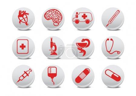Photo pour Illustration des icônes de la médecine .Vous pouvez l'utiliser pour votre site Web, application ou présentation - image libre de droit