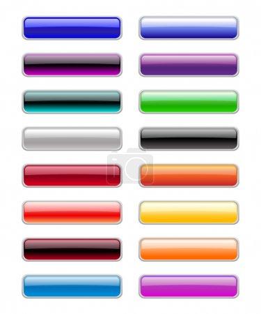 Photo pour Illustration de boutons rectangulaires modernes, brillants . - image libre de droit