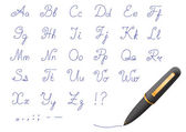Ball-point pen font