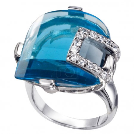 Rings with gemstones isolated