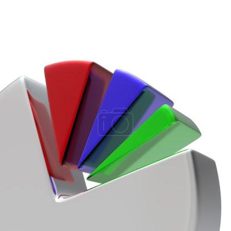 3D Circular diagram on white