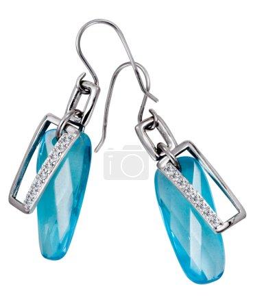 Earrings with big gemstones