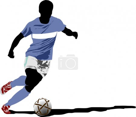 Soccer players. Vector illustration