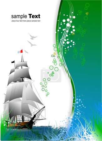 Cover for brochure with old sailing vess