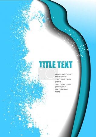 Illustration pour Fond abstrait vague bleue. Illustration vectorielle - image libre de droit