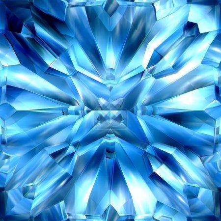 Photo pour Cristal de glace bleu, motifs, combinaisons de texture pour la duplication du fond - image libre de droit