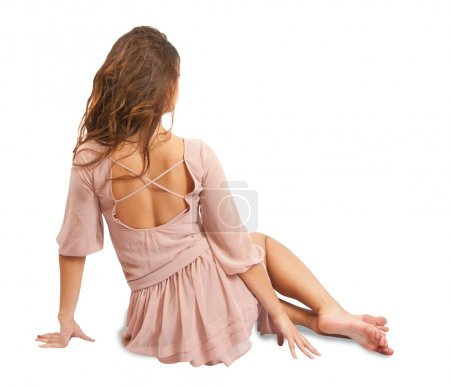 Photo pour Photo de type mode d'une jeune femme incroyablement belle posant séance - image libre de droit