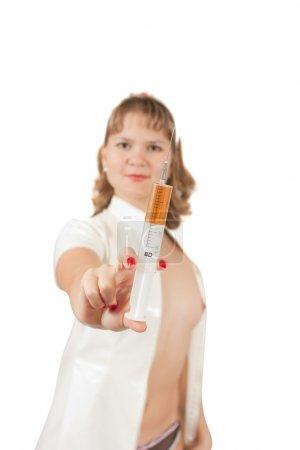 Photo pour Photo de mode type d'une superbe jeune infirmière - image libre de droit