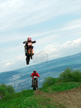 Photo for Jump in motocross. Element of design. - Royalty Free Image