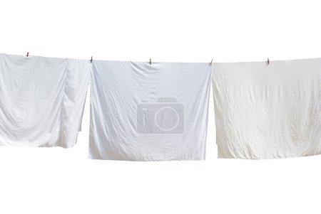 Photo pour Blanchisserie blanc. élément de conception. - image libre de droit