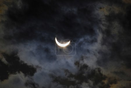 Photo for New moon, the moon shining in night - Royalty Free Image