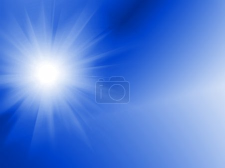 Photo for Sun Digitally Generated Image in blue sky - water - Royalty Free Image