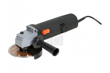 Angle grinder isolated over white background...