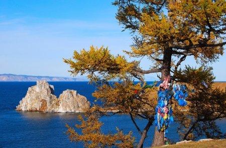 Photo pour Lac Baïkal. Olkhon Island. Cap Burkhan . - image libre de droit