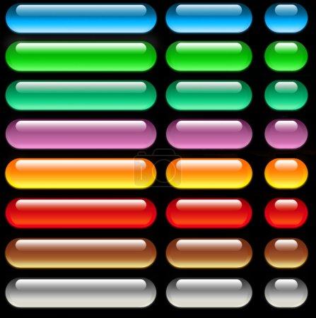 Photo pour L'ensemble des boutons brillants web - image libre de droit