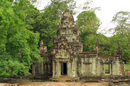 The ancient building in Angkor