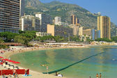 Sandy beach in Monte Carlo, Monaco