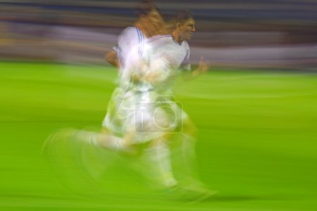 Soccer player (Long exposure effect)