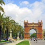 Arc de Triomphe in Barcelona, Spain...