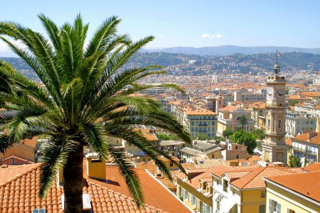 Photo for Bird view panorama of Nice city, France - Royalty Free Image