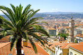 Bird view panorama of Nice